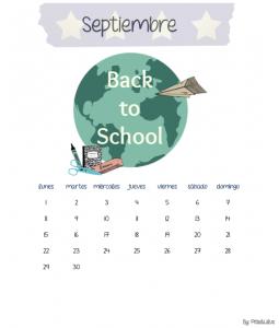 Calendario septiembre vuelta al cole psicología hábitos
