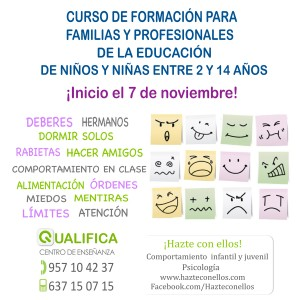 Curso de formación para padres, madres y profesionales de la educación- Noviembre 2014. Córdoba